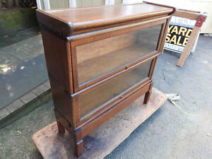 antique barrister bookcases 2, 3 and 4 levels sections