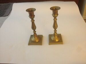 Solid Brass Candle Holders