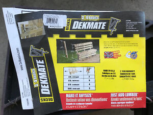 Dekmate Brackets (bench on deck)