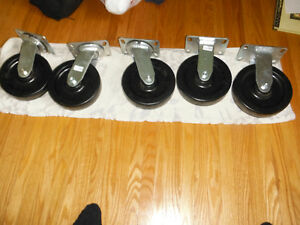 new 8 inch heavy duty castors