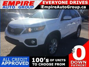 2011 KIA SORENTO EX * AWD * LEATHER * REAR CAM * PANO SUNROOF *