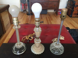 Antique glass lamp bases Windsor Region Ontario image 1