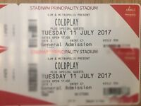 Coldplay tickets Cardiff 11 July 2017