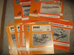 Old Pami Reports