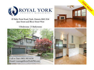 5 BED/5 BATH-UPGRADED HOME FOR RENT @ ETOBICOKE|BABY POINT