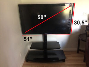 """50"""" Samsung Plasma Screen TV   WITH Mounted Stand   1080p"""