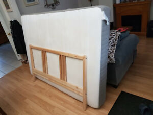 Full Bed Mattress + Frame Combo (Less Than Year Old)
