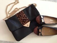 Bank handbag and Jeckni shoes size 5 only worn two times