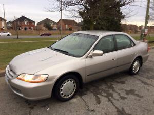 1999 Honda Accord LX 2.3L Sedan 130K Original KMs Clean LOADED