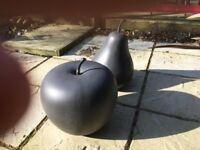 Garden ornament feature apple pear modern statue