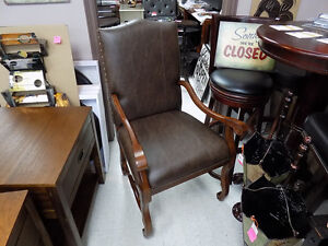 Chair Large Wood and Leather (4) $ 395.00 ea. Call 727-5344 St. John's Newfoundland image 2