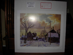 """""""Winter In The Village"""" Print by A.J. Casson"""