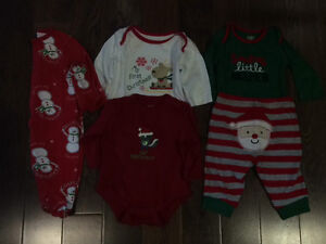 0-3 months Christmas clothing