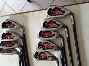 Callaway Big Bertha Irons 3-P/W & S/W. Firm Flex Graphite Shafts