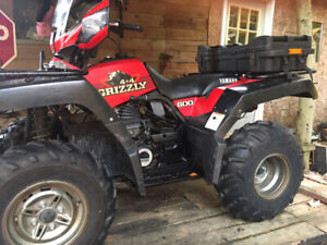 Two 1998 600 grizzly's one in very good condition running the ot