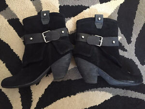 Naughty Monkey Gadget Black Ankle Boots size 8.5