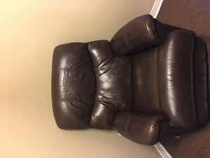 Brown recliner for sale.