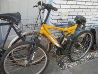 shimano bike ... assorted mens ladies ... bikes 2 spare wheels