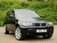 2006 06 BMW X3 3.0d M Sport Auto WITH SPECIAL ORDER TAN LEATHER+SATNAV+FSH