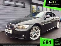 2008 BMW 325d Convertible auto M Sport **Black - Diesel - Full Leather - FSH**