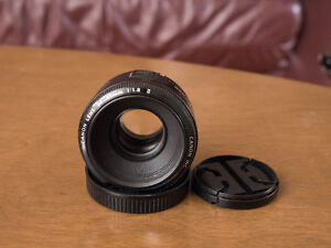 Canon EF 50mm f1.8 mkii