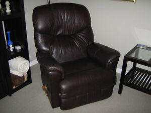 TWO LEATHER LAZBOY RECLINERS