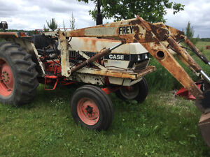 manure spreader, cultivator, corn planter, tires, tractor