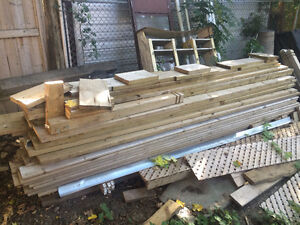 Lot of pressure treated wood for 10x12' deck