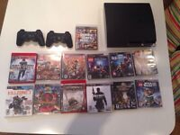 PS3 2 manettes/controlers 9 Jeux/Games