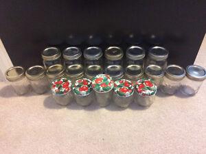 21 Glass Jam/Mason Jars (Some Mason)