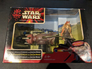 Star Wars Ep 1 Gungan Assault Cannon w/ Jar Jar Binks