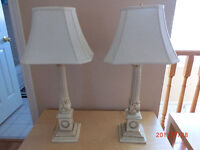 Table lamps, Qty 2
