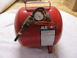 air tank with gauge and shutoff valve almost new