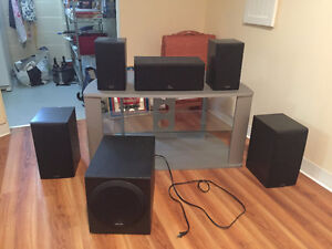 Polk 5.1 Surround Sound Speakers with Subwoofer. Must sell.