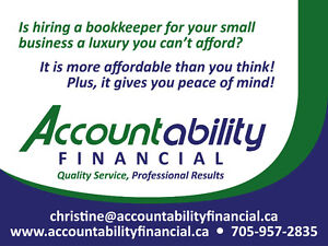 Affordable and reliable bookkeeper Peterborough Peterborough Area image 1