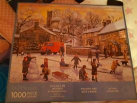 1000 Piece Jigsaw Village in Winter