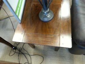 ASHLEY LEWIS COFFEE TABLE AND END TABLES