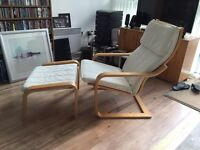 IKEA Pello armchair and footrest