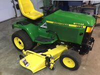 "John Deere 445 aws. Tractor All wheel steer. Mower 60"""