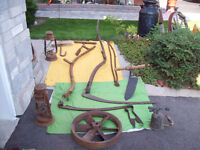 ANTIQUE RUSTIC  TOOLS ** could be used for HALLOWEEN PROPS