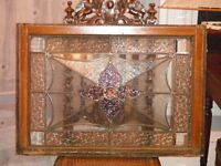 Beautiful Antique Stained and Crystal Cut Glass Window