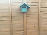 Hand made bird nest box with protection paint £5 Ip3 area pick up only