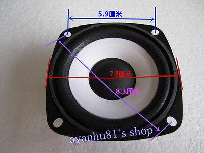"""3"""" inch 4Ohm 4Ω 10W Round Full Range Audio Speaker Loudspeaker Horn Home Car"""