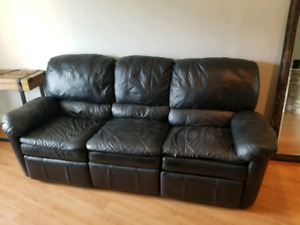 Leather Reclining 3 seater couch