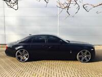 2011 11 Rolls-Royce Ghost 6.6 + BLACK + RED LEATHER + REAR ENTERTAINMENT + +