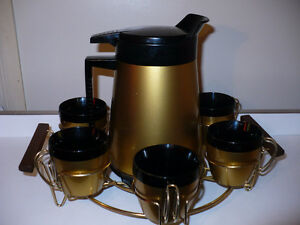 Vintage WEST BEND Café thé thermos  Plateau isolé 6 Tasses