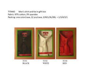 $8.99/ Shirt with Tie  Wholesale Mens Solid Dress Formal Shirt