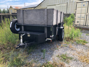 Dump trailer 5x8 with walls.
