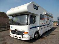 Mercedes-Benz Event homes race/motocross truck large workshop