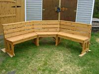Cedar outdoor / fireside bench